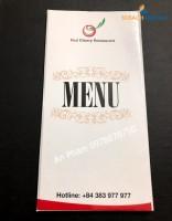 Menu nhà hàng - Phong cách - Ấn tượng